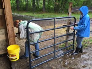 Fixing gate